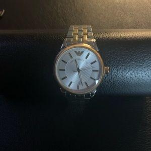 Emporio Armani Gents Two-Tone Quartz Watch
